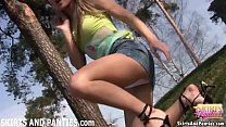 Flashing my panties outside is the ultimate thrill Thumbnail