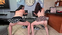 2 Small Titted Sluts Booty Shaking In Their Cro