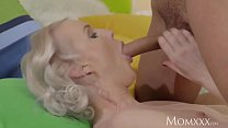 MOM Gorgeous thin blonde MILF loves energetic f... thumb