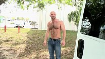 BAIT BUS - Beefcake Stud Dirk Willis Gets His Powerful Cock Sucked By Kyro Newport