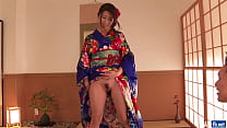 Free download video bokep Woman in sexy kimono, Japanese blow job on cam