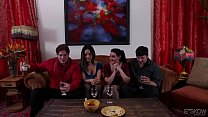 Screenshot Nadia Styles  and Charley Chase in a nasty foursome