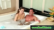 Brunette Teenie Gives Blowjob In Jacuzzi   Marc