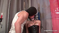 17497 Big boobed french babe hard corrected in BDSM action preview