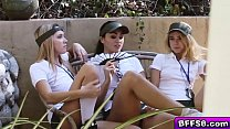 Teen lesbian campers loves playing with their p...'s Thumb