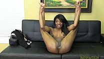 Amateur black girl gets nude and sucks cock thumb