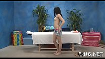 Cute 18 year old hotty gets screwed hard by her massage therapist