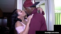 Black Knight Rome Major Muff Stuffs Dark Dicked Sarah Lace!