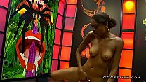 Black luna corazon licking white ass and gets cums