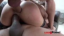 Holly Hendrix Ass fucked DP'ed & DAP'ed by two Monster Cocks