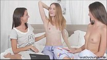 Gorgeous sexy teens Camila and Elizabeth are having lesbian fun