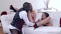 Butler Fucks Curvy Babes Abbie Cat & Cathy Heaven With Enormous Black Cock preview image