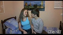 Hot sex with a horny hottie porn thumbnail