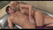 Nice blonde gives soapy massage pornhub video