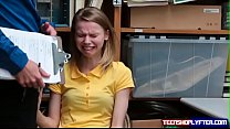 Poor skinny teen Catarina Petrova thief deal wi...