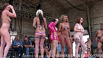 amateur strip contest at iowa biker rally preview image