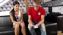 HUNT4K. Lovely brunette Madelina Dee asks BF if she can suck cock for tickets