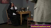 Facialized Uk Nun Sucks A Fat Cock