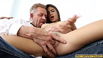 Michelle Martinez got two big cocks at once thumbnail