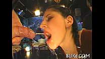 Moist oral stimulation with titty fuck thumb