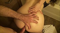 Cheating housewife takes big dick in her ass wh...