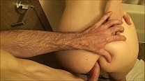 Cheating housewife takes big dick in her ass while husband is sleeping صورة