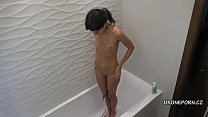 Katty West in the shower