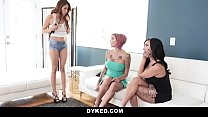 Dyked - Hot Asian Babe Fucked By Busty Milfs - 9Club.Top