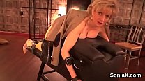 Unfaithful british mature lady sonia presents her large globes
