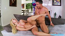 Petite blonde Aaliyah Love pounded rough porn image