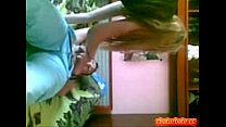 Youthful hotty experimenting in sex