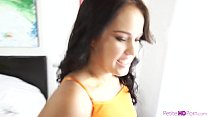 Hot threesome with petite teen cutie - 9Club.Top