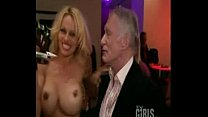pamela anderson at playboy house with Hugh Hefner