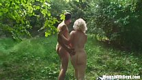 Blonde Mama Jana Receives Rough Fucking Outdoors's Thumb