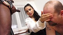 MISTRESS MIRA - XXXL LOAD CUM EATING CUCKOLD IN THE OFFICE! video