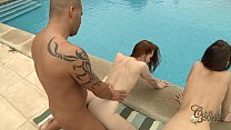 Tina Blade and Denisa Heaven 3some in Mallorca