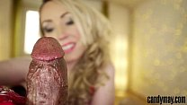 16432 Candy May - Milking huge BBC in leather gloves and fishnet preview