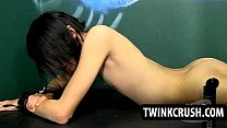 Horny twink Roxy Red gets toyed and fucked anally
