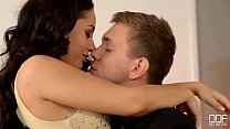 Girlfriend Gifts Her Guy a Massage, a Threesome, And Anal! - 9Club.Top