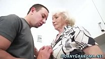 hot old woman sliding on cock