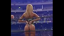 Stacy Keibler gets spanked while showing her ass.