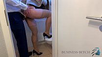 fucked by boss on the office restroom, Business Bitch