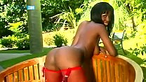 Bubble butt ebony babe gets her ass banged hard thumb