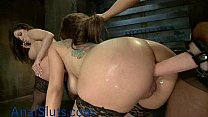 Two Latinas anal punished by mistress