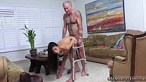 Daddy spanks and fucks chum' associate's daught...