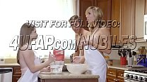 He was shocked to see these two naked ladies cook cookies thumbnail