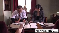 Screenshot Japanese secret ary blows her boss in the offi oss in the office