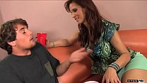 Syren De Mer is a nasty cougar who desires a young college guy with a big cock!