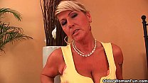 Hot gilf fucks herself with a dildo