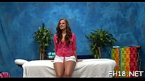 Legal age teenager babe gives up the pink to her masseur